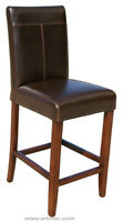 3 Leather Kitchen Counter Height Stool in Brown or Distress