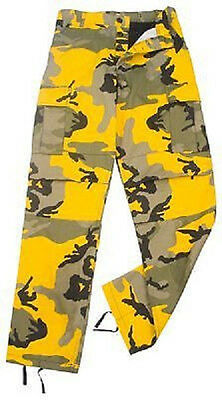 Stinger Yellow CAMO ULTRA FORCE BDU CAMOUFLAGE PANTS TROUSERS HOSE Small Regular ()