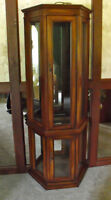 Quality Wood TALL  Curio Cabinet
