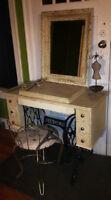 Antique Singer Sewing machine cabinet vanity-**changed**