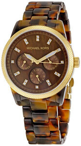 Michael-Kors-Ladies-Tortoise-Shell-Watch-MK5038-Acrylic
