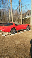 for sale1979 corvette red int black leader  need engine