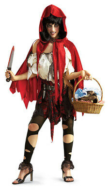 Little Red Riding Hood Evil Fairy Tale adult ladies costume  lil dead hood