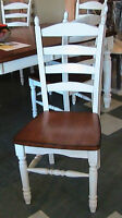 VARIOUS DINING CHAIRS, faux leather parson chair, solid wood