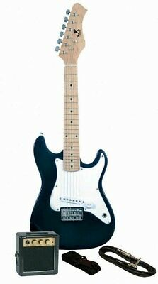 J. Reynolds Childrens/Kids Mini-Electric Guitar Prelude Package - Black