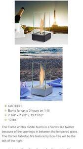 Eco Feu Cartier Tabletop portable fireplace indoor/outdoor Oakville / Halton Region Toronto (GTA) image 3