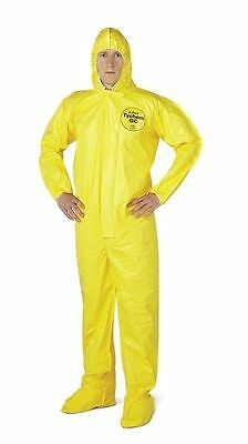 Dupont Personal Protection Hooded Coveralls Lg Yellow Qc122tyllg000400 4pk