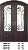 Wrought %100 Iron Double Front/ Exterior / Entry Door