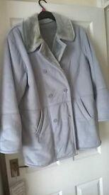 grey sheepskin coat 10-14