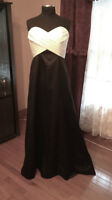 Black and White Wedding gown for Sale