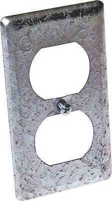 New Lot 10 Raco 864 Metal Duplex Receptacle Electrical Box Covers 6153159