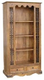 Large Solid Sheesham Wood Bookcase
