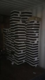 132 boxes of shoes