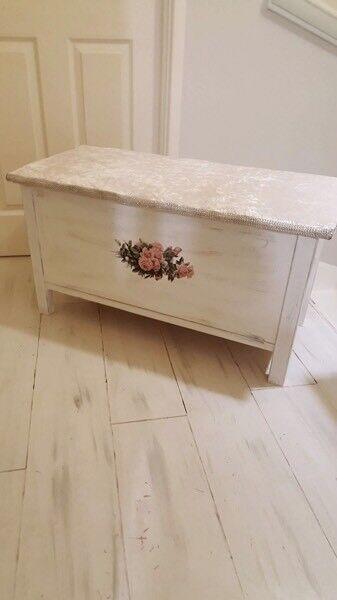 White wooden chest