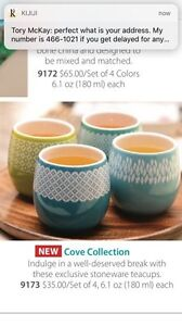 Brand new in box steeped tea cove collection