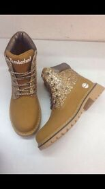 Timberland boots with glitter detail size 5