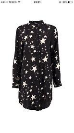 Bowie star print shirt dress