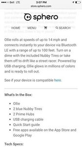 OLLIE APP ENABLED ROBOT .....BRAND NEW Cambridge Kitchener Area image 8