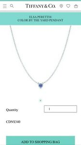 T&CO COLOR BY THE YARD TANZANITE PENDANT NECKLACE