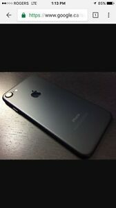 IPHONE 7 MATTE BLACK 32 GB $950 obo