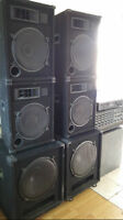 Pro. DJ sound system and controller