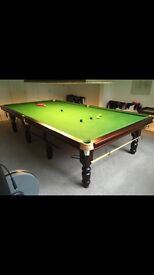 Full size snooker table with everything