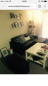 Great sofa bed & long table & queen bed with box & IKEA table