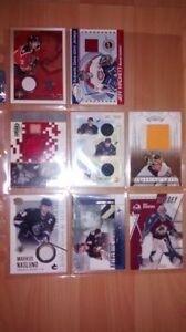 Carte de hockey morceau de chandail faite une offre