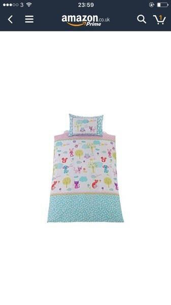 Bedding set with curtains and lamp shade creature friends