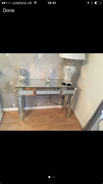 Two mirrored console tables excellent conditionin Litherland, MerseysideGumtree - I have two gorgeous console tables mirrored effect bought from my home rocks 6 months ago moving house and they do not fit in new lounge paid £700 for both looking for £400 no offers as there is not even a chip on them and selling as a pair Grab...