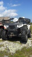 2013 polaris 500 with warranty and plow