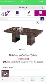Solid marble table, 9months old....