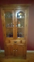 Armoire en Coin - Corner China Cabinet