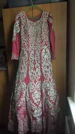 asian bridal wedding dress