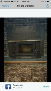 For sale wood burning fire place