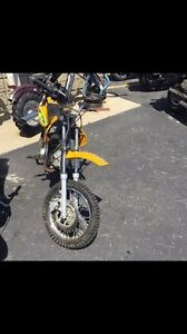 For Sale or Trade- WORKING Dirt Bike and New Helmet
