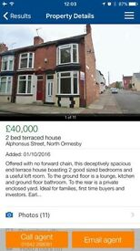2 bed house north ormesby with loft conversion ( 3bed)