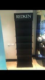 Redken salon shelf stand