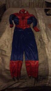 Boy size 8-9 spider man costume on $30