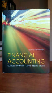 Financial Accounting Fourth Canadian Edition $60 Or Best Offer