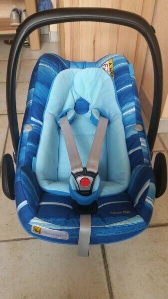 Maxi-Cosi Pebble Plus Babyschale i-Size Water Blue mit Adaptern