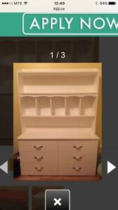 ISO: white dresser with hutch