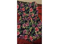 Women's floral play suit