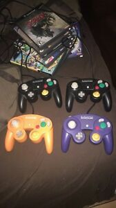Game Cube W/2 Controllers & 2 Games London Ontario image 2
