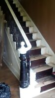 Old farmhouse stair case and railing
