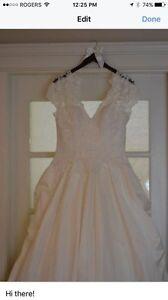 Wedding dress size 10.5