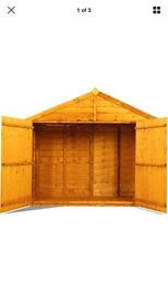 Garden Storage Unit Shed 3 x 6ft Wooden Sheds Wood Overlap Outdoor Bike Box Tool