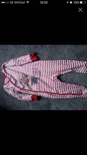 12-18 months Christmas romper baby gro