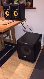 KRK6 active speakers +KRK12s active sub
