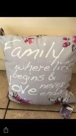 Tesco family cushions set of 3 £6.50
